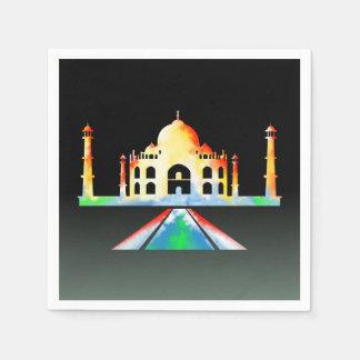 Taj Mahal Colorful Illustration Paper Napkin