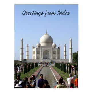 taj mahal crowd greetings post cards