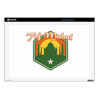 "Taj Mahal Decal For 17"" Laptop"