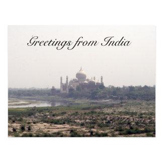 taj mahal distant greetings postcard