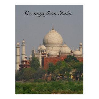 taj mahal distant postcard