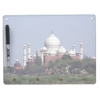 taj mahal domes dry erase board with keychain holder