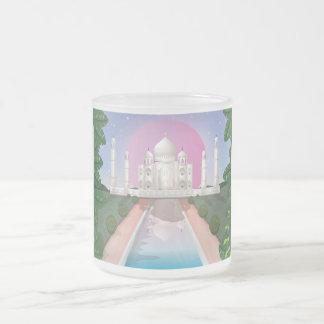 Taj Mahal Frosted Glass Coffee Mug