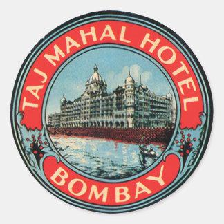 Taj Mahal Hotel Bombay Classic Round Sticker