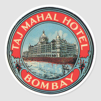 Taj Mahal Hotel Bombay Luggage Tag Stickers