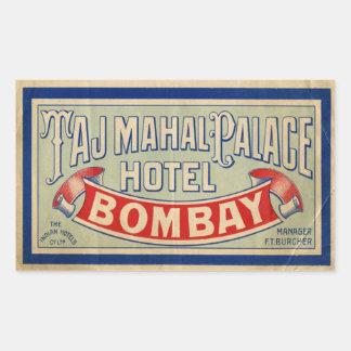 Taj Mahal Hotel Rectangular Sticker