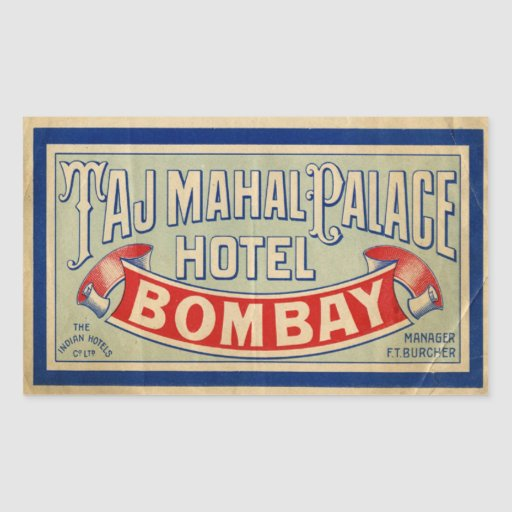 Taj Mahal Hotel Stickers