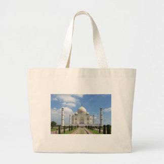 Taj Mahal in Agra India Tote Bags