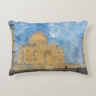 Taj Mahal in Agra India Decorative Pillow