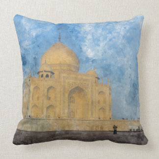 Taj Mahal in Agra India Throw Pillow