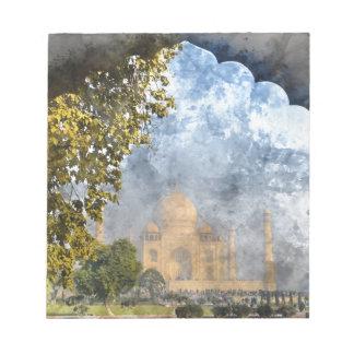 Taj Mahal in India Note Pad