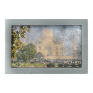 Taj Mahal in India Rectangular Belt Buckle
