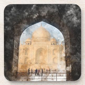 Taj Mahal in the Morning Drink Coaster