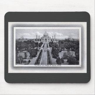 Taj Mahal India 1920s Vintage Mousepad