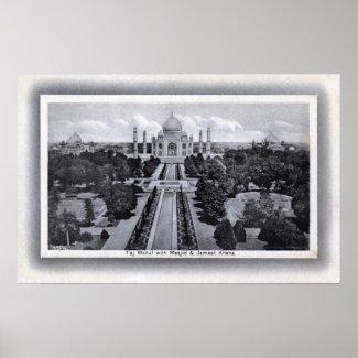 Taj Mahal India 1920s Vintage print