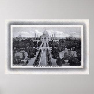 Taj Mahal India 1920s Vintage Poster