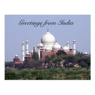 taj mahal india greetings post cards