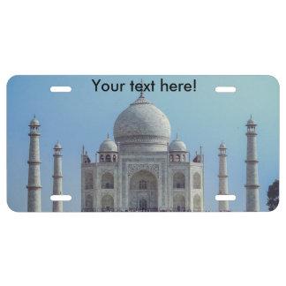 Taj Mahal, India License Plate