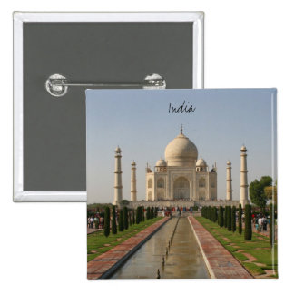 taj mahal india pinback button