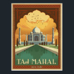 "Taj Mahal, India Postcard<br><div class=""desc"">Anderson Design Group is an award-winning illustration and design firm in Nashville,  Tennessee. Founder Joel Anderson directs a team of talented artists to create original poster art that looks like classic vintage advertising prints from the 1920s to the 1960s.</div>"