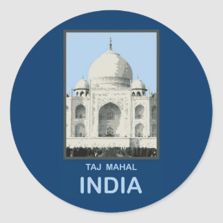 Taj Mahal India Classic Round Sticker