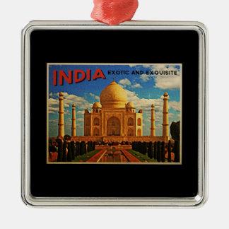 Taj Mahal India Vintage Metal Ornament