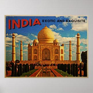 Taj Mahal India Vintage Poster