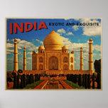 Taj Mahal India Vintage Print