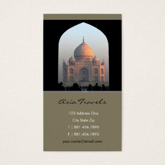 Taj Mahal Light of Dawn India Architecture Photo Business Card