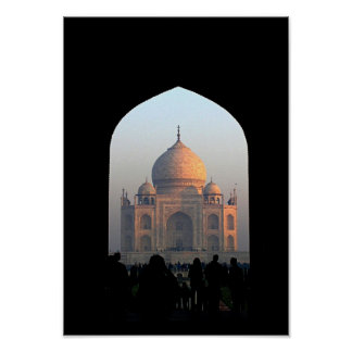 Taj Mahal Light of Dawn India Architecture Photo Posters