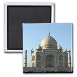 taj mahal marble 2 inch square magnet