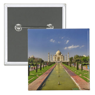 Taj Mahal mausoleum / Agra, India 2 2 Inch Square Button
