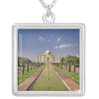 Taj Mahal mausoleum / Agra, India 2 Square Pendant Necklace