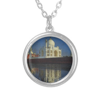 Taj Mahal Mausoleum by Vasily Vereshchagin Round Pendant Necklace