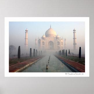 Taj Mahal Mist Poster