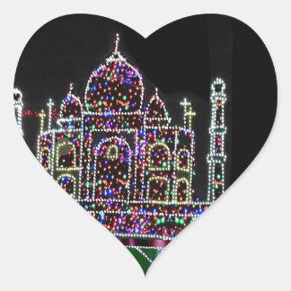 TAJ Mahal Moghul Architecture Heritage Building 99 Heart Sticker