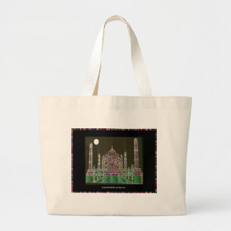 TAJ Mahal Mughal Architecture India Agra Heritage Large Tote Bag