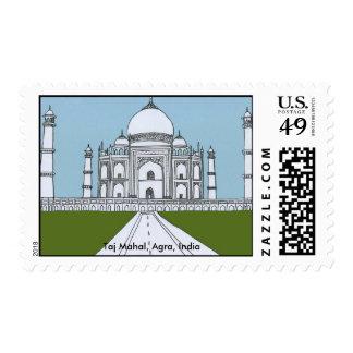 Taj Mahal Postage Stamp