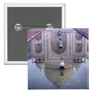 Taj Mahal reflection, Agra, Uttar Pradesh, 2 Inch Square Button