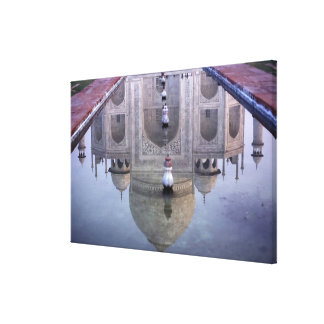 Taj Mahal reflection, Agra, Uttar Pradesh, Canvas Print