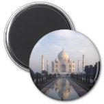 Taj Mahal Reflection in Agra, Uttar Pradesh, India 2 Inch Round Magnet