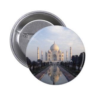 Taj Mahal Reflection in Agra Uttar Pradesh India Pinback Button