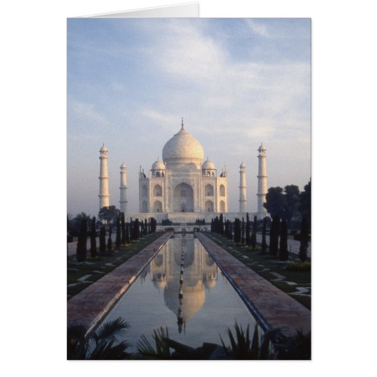 Taj Mahal Reflection in Agra, Uttar Pradesh, India Card