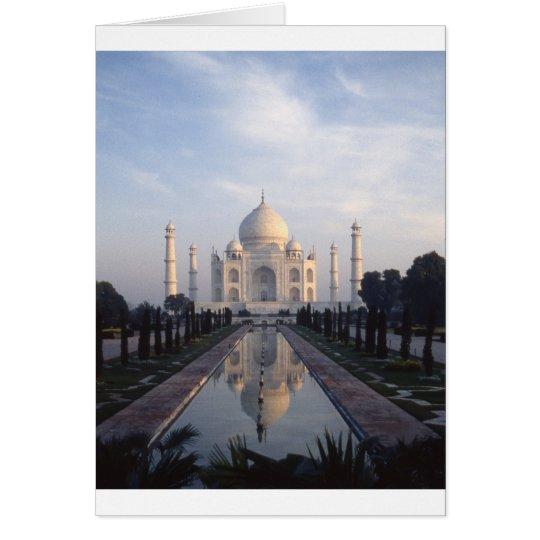 Taj Mahal Reflection in Agra, Uttar Pradesh, India Card