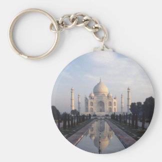 Taj Mahal Reflection in Agra, Uttar Pradesh, India Keychain