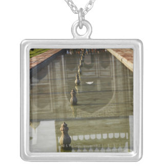 Taj Mahal reflection of the entrance door to the Square Pendant Necklace