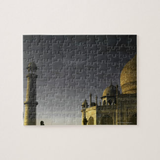 Taj Mahal reflection on water at dawn  with high Puzzle