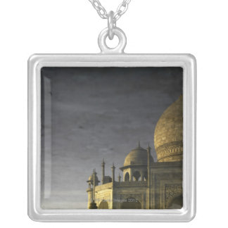 Taj Mahal reflection on water at dawn  with high Square Pendant Necklace