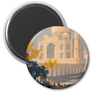 Taj Mahal Round Magnet