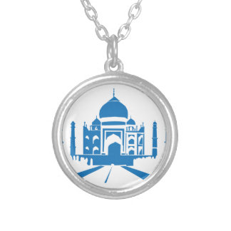 Taj Mahal Round Pendant Necklace